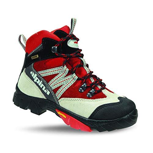 alpina 680245, Unisex-Kinder Trekking- & Wanderstiefel, Rot (rot/grau), 39 EU …