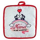 Sheepworld 45239 Topflappen 'Mama - Du bist wunderbar! Ich hab Dich lieb!', 18 cm x 18 cm, Geschenkartikel