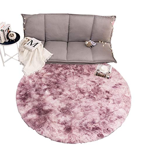 Read About CarPet Bedroom Soft and Fluffy Area Children's Room Decoration Round Rug (Color : Pink, S...