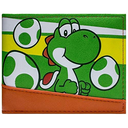 Super Mario Yoshi with Eggs Portemonnaie Geldbörse Grün