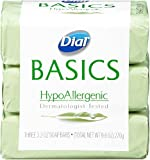 Dial Basics Bar Soap, Hypoallergenic, 3.2-Ounce Bars, 3 Count