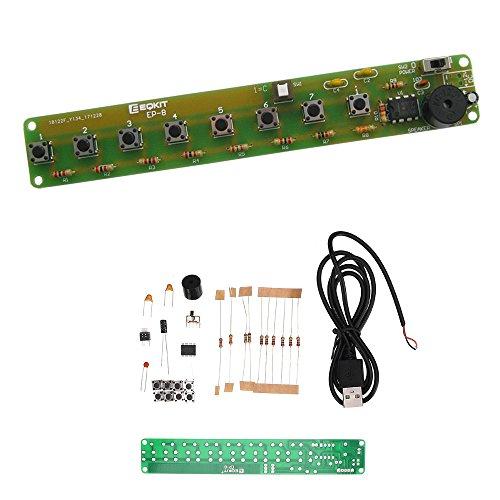 ILS - eenvoudige elektronische orgelkit DIY NE555 solderen praktijk plank multi-noten keyboard set