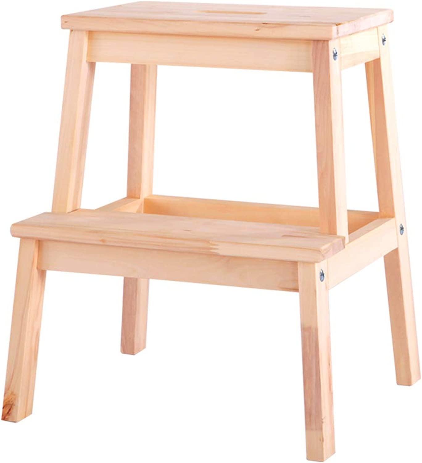 LIYONG Step Stool, Solid Wood Climbing Ladder, shoes Bench, Home Flower Shelf (color   A)