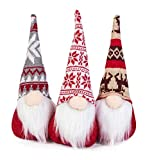 Roberly 3 Pack Christmas Gnomes Plush, 11.4 Inch Handmade Swedish Santa Gnome Scandinavian Tomte Nisse Nordic Gnomes Christmas Decorations for Party, Home Ornaments