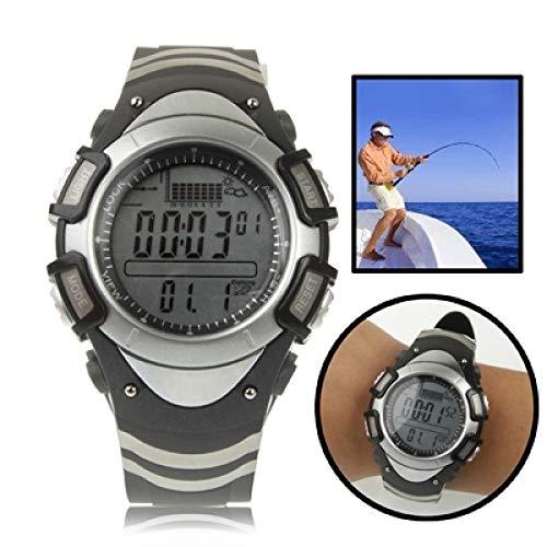 Smart Watch Barómetro de Pesca Digital Reloj con termómetro/altímetro/pronóstico del Tiempo/Tienda DE PRESIÓN Pantalla DE Trabaja / 30M AUTORIENTE A Prueba de Agua/Tormenta (Negro)