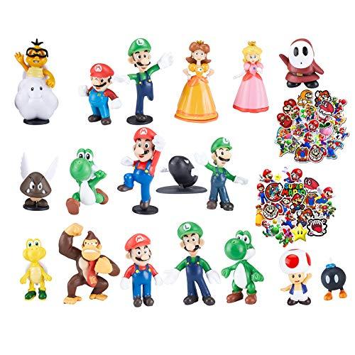 Super Mario Mini Toys for Boys,Mario Bros Series Action Figures Toys,Mario Brothers Cartoon Theme Collection Playset…