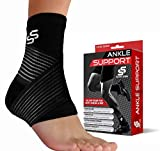 Sleeve Stars Ankle Brace for Plantar Fasciitis and Ankle Support, Ankle Sleeve for Compression, Heel Brace for Heel Pain, Achilles Tendonitis Brace for Women & Men (Single)