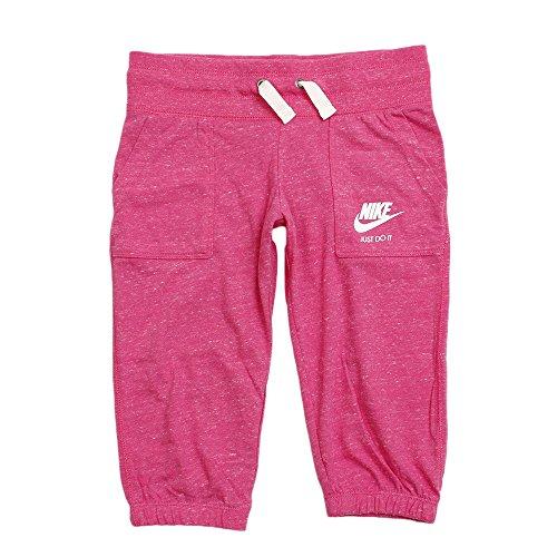 Nike Mädchen Gym Vintage 3/4 Capri Hose, pink, L - 146-156 cm