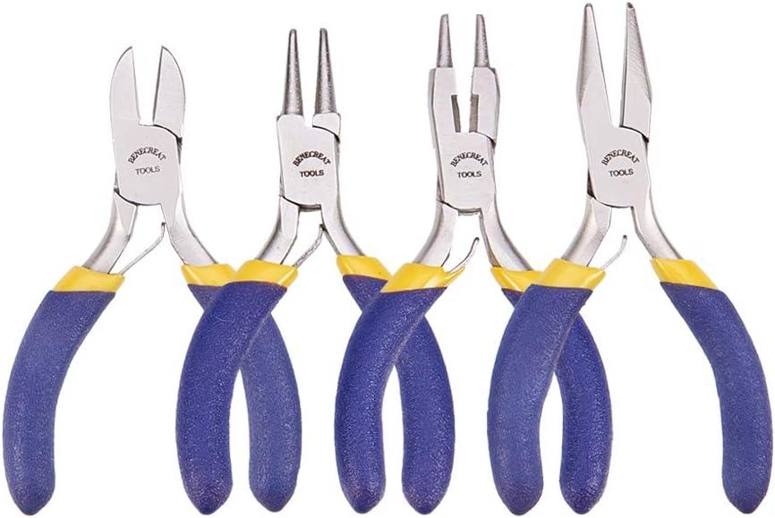 BENECREAT 4-Piece service Mini Jewelry Pliers Professional Gifts Set Pre