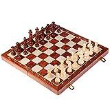 YHYH ajedrez Juego de Placa de ajedrez de Madera Grande Juego de Mesa de Rompecabezas para niños y Adultos 39x19.5x5.4cm / 15.3x7.6x2.1 Pulgada ajedrez para Adultos