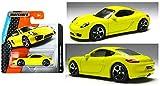 Matchbox 2015 MBX Adventure City '14 Porsche Cayman 1/120, Yellow