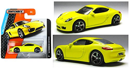 Matchbox 2015 MBX Adventure City '14 Porsche Cayman 1/120, Yellow