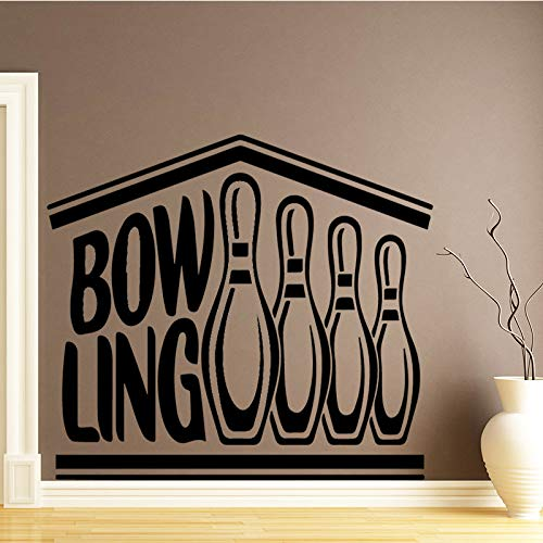 Creative Bowling Wall Sticker Home Decoration For Kids Rooms Nursery Room Decor Home Party Decor Wallpaper Black L 43cm X 56cm