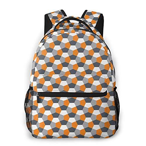 Rucksack Männer und Damen, Laptop Rucksäcke für 14 Zoll Notebook, Origami Mosaik Keramik Stück Sechseckig Kinderrucksack Schulrucksack Daypack für Herren Frauen