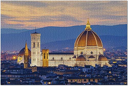 Crepúsculo en el Duomo de Florencia, Italia - Puzzle de 1000 piezas para adultos
