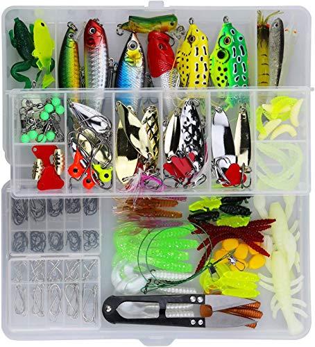 Cishbsoal Leurres de Pêche Kit 235pcs -...