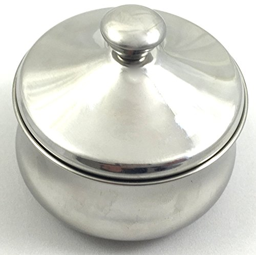 Schne Stainless Steel Shaving Bowl with Lid - Satisfaction Guarnteed Designed in Austria by Schone