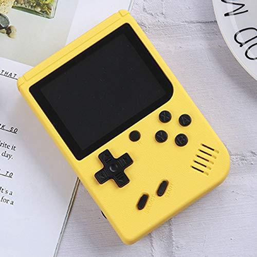 Consola De Juegos Portátil 3 Pulgadas 800 Juegos Retro Game Player Consola De Juegos Clásica 1 Carga USB 2 Jugador Consola Traer De Vuelta La Memoria del Niño,Amarillo