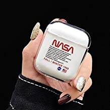 NASA Airpods Case Hard Transparent Cover Sport Logo Wateproof Shockproof Protective Case for Apple Airpods Chager Box