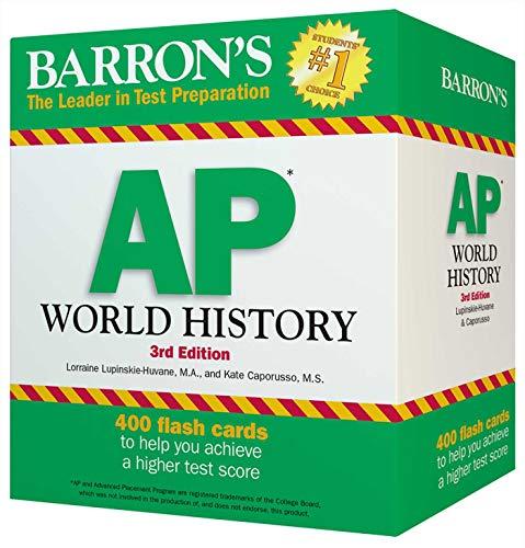 Barron's AP World History Flash Cards, 3rd Edition (Barron's Test Prep)