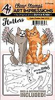 Art Impressions 5029 フラッタースタンプ&ダイセット 猫