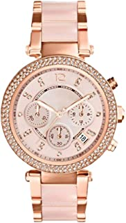 Hexiaoyi Exquisite Women's Crystal Watch Stainless Steel Waterproof Lady Business Quartz Watch Rose Gold (Color : Gold)