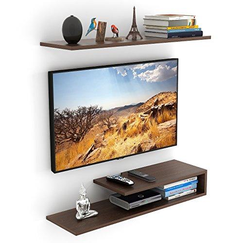 Bluewud Kunsua TV Entertainment Unit/Wall Set Top Box Stand Shelf (Standard Wenge)