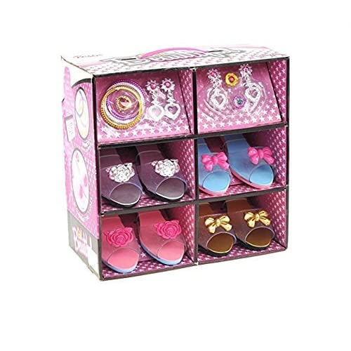 ToyVelt Princess Dress Up Play Shoe And Jewelry Boutique Includes 4 Pairs Of Shoes