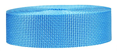 Strapworks Lightweight Polypropylene Webbing - Poly Strapping for Outdoor DIY Gear Repair, Pet Collars, Crafts – 1.5 Inch x 25 Yards - Powder Blue