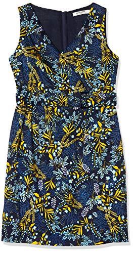 Naf Naf Menr53 Vestido, Azul (Lemimosa Bleu Marine G00j), 40 para Mujer