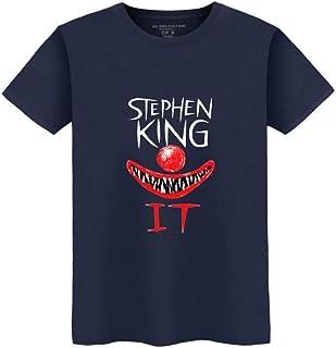ZYOONG IT T-Shirt Thriller Horror Movie IT T-Shirt Clown Joker Graphic Tee Shirt Cotton T-Shirt Men Short Sleeve Print Cas...