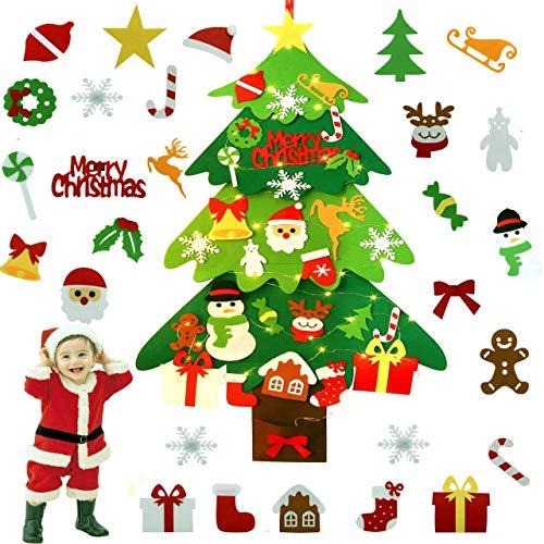 Fieltro Árbol de Navidad, ZOYLINK LED El árbol de Navidad del Fieltro Decoraciones de la Navidad