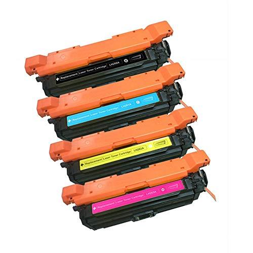TIANCHAO CE260A CE261A CE262A CE263A Kompatibler Austausch der Tonerkartusche für FarblaserJetCP4025 / CP4025n / CM4540 CM4520 CP4525D einfach zuzuführendes Pulver/Mit Chip/High Yield-4p