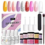AZUREBEAUTY Yellow Pink 8 Colors Dipping Powder Nail Starter Kit DIY...