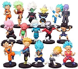 Dragon Ball Z Collectible Model | 16 Piece Action Figure Set | Cake Topper, Party Favor Supplies