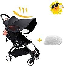Funda para cochecito de bebé, sombrilla, parasol para cochecito de bebé, con gran protección UV, adecuado para todo tipo de cochecitos con el toldo de soporte duro arqueado