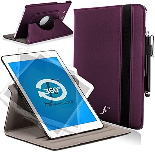 Forefront Cases Hülle für Samsung Galaxy Tab E 9.6 T560 (2015) Rotierend Schutzülle Case Cover & Ständer - Extra Robust & Rundum-Geräteschutz - Lila