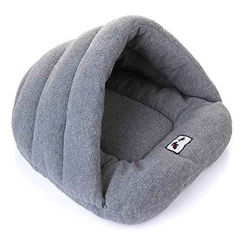 WQA Camas para Gatos Casas para Perros, Suave Grande Cueva con Esponjoso Cojínes para Pequeño Mediano Interior Mascotas Cachorros Grey-XL