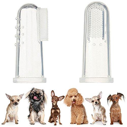 UEETEK 4pcs cane dito spazzolino da denti in Silicone...