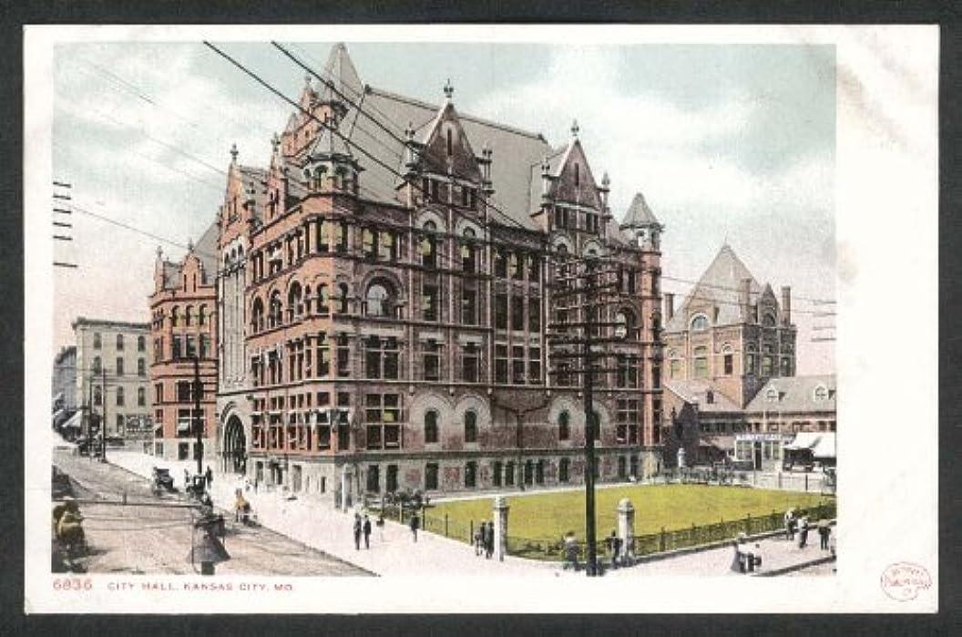 City Hall Kansas City MO undivided back postcard 1900s aqeihgrzudc79
