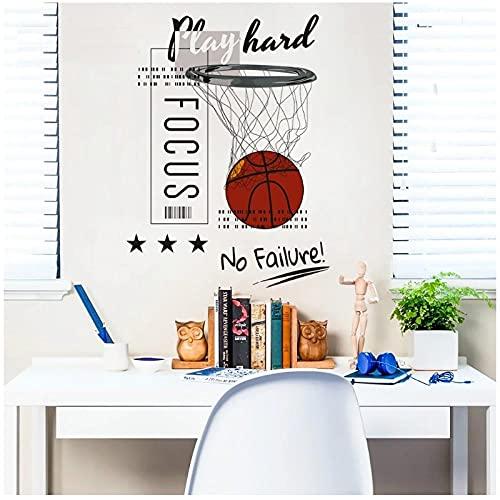 KBIASD Etiqueta de la pared del cartel del tema del baloncesto mural para la decoración de la habitación de los jóvenes 30x40 cm