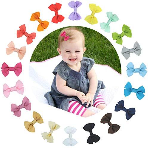 40 Piezas bebé niña Lazos para el pelo Boutique cinta, Multicolor Clips para adolescentes Niños Amigos