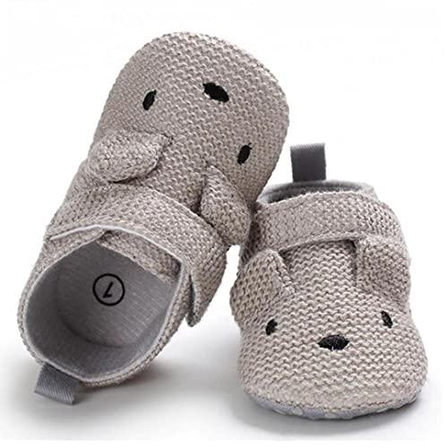NIDONE Zapatos de bebé de Dibujos Animados de Tejer Lana Bordado Antideslizante Suela Blanda Zapatos Primero Que Caminan para 3-18M Infantil