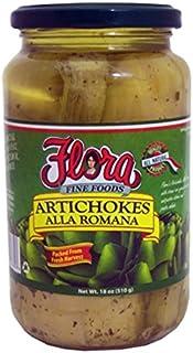 Flora - Marinated Long Stem Roman Artichokes, (2)- 19.4 oz. Jars
