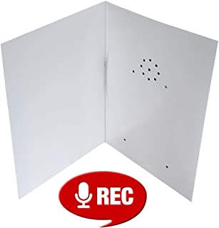 Talking Products, Recordable Greeting Card, 40 Seconds Recording with Replaceable Batteries. Record and Send Your own Personal Voice Message, Music or Sound Effects.