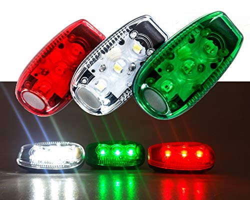 OZ-USA Clip On LED Safety Warning Strobe Light Bicycle Motorcycle Marine Moat Navigation Sail Zodiac JS Spare Kayak Yacht Zodiak