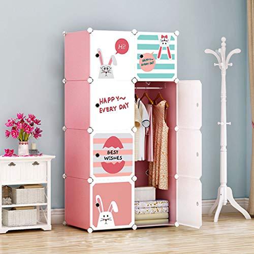 Gloop Hallo Home®- Kinderzimmer Spielzeuge Kleiderschrank, Aufbewahrungsregal DIY Steckschrank Stecksystem mit Kleiderstangen und Tieren Motiven
