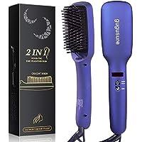 Gugusure Anti-scald Hair Straightening Brush with 30s Fast Heating MCH Ceramic