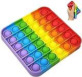 Push Pop It Bubble Toy Silicona, Importado en España Juguete Sensorial para Niños y Adultos Bueno para Ansiedad y Estrés Todas Edades, Bubble Game Antiestrés Necesidades Especiales Autismo Fidget Toy