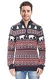 Arvilhill Men Winter Loose Long Sleeve Knit Funny Christmas Sweatshirt Xmas Sweater Pullover Jumper Black L